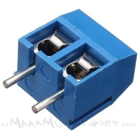 Koppelbare soldeer schroefterminal (2-voudig)