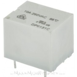 12V Relais 10A/250V (geschikt voor witgoed)