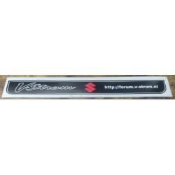 V-Strom forum motor kentekenplaat houder sticker