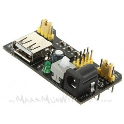 Breadboard voeding USB + 3,3V + 5V