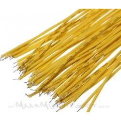 Jumper kabels 20cm 'tin-plated' geel Male-Male (10 stuks)
