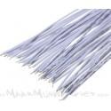 Jumper kabels 20cm 'tin-plated' wit Male-Male (10 stuks)