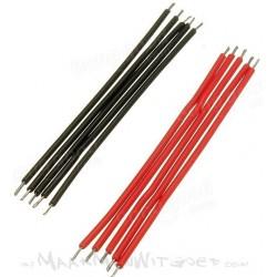 Jumper kabels 6cm 'tin-plated' zwart Male-Male (ca. 25)